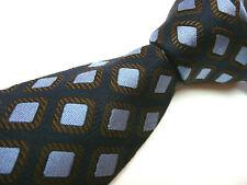 New Bruno Piattelli All Silk Tie Made In Italy Barneys New York Navy & Light Blu