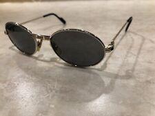Cartier Paris Saint Honore Vintage Sunglasses With Sapphire 49-18-130 Authentic