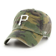 MLB Pittsburgh Pirates Baseball Cap Cleanup Camoflauge Logo White Camouflage