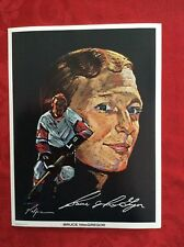 Bruce MacGregor 1971 Detroit Red Wings Nicholas Volpe Hockey Portrait Print