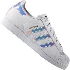 Adidas Originals Superstar J Blanco/iridiscente cuero Jóvenes 38 EU