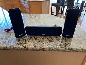 RCA RTD317W Surround Home Theater Set of 3 Speakers Front/Left/Center