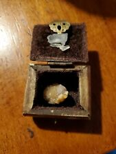 Handcrafted Bone  Mini Treasure Chest with crystals Purple Velvet