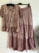 Pink Suit Wedding Size m/l Pretty Flared Lace Boho Festival Lace Tie Dye