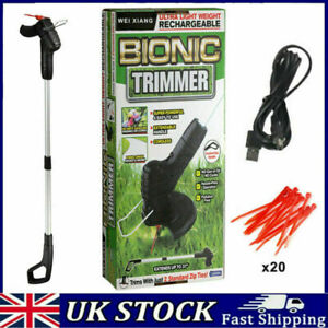 Electric Cordless Grass Trimmer Garden Weed Strimmer Cutter Rechargeable Tool UK
