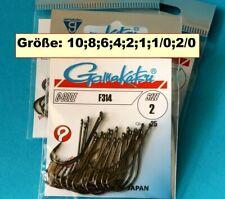Gamakatsu F314 Größe #10,8, 6, 4, 2,1,1/0,2/0 b.nickel Haken Fliegenbinden Japan