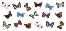 "1 Butterfly Wrap  7-1/2"" X 3-1/4"" Waterslide Ceramic Decal Ox"