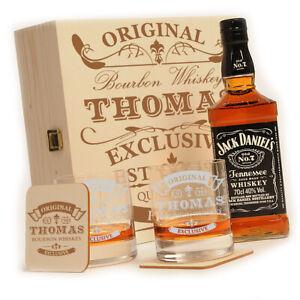Jack Daniels 6-tlg. Whiskey Geschenkset mit personalisierter Gravur - scotch