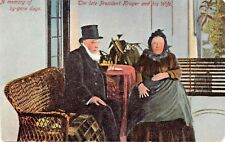 SOUTH AFRICA~PRESIDENT KRUGER & WIFE~A MEMORY OF BY-GONE DAYS POSTCARD