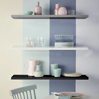Floating Shelves Wall Mount Shelf Display Unit Wall Storage Wooden Book Mounted