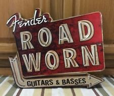 Fender Guitar Road Worn Metal Zeppelin Amplifier Neon Look Vintage Style Pic 2