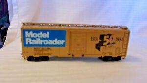 Vintage HO Scale Athearn Model Railroader 50th Anniversary Box Car, Gold  Built