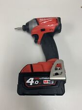 "Milwaukee M18FID2 Brushless Fuel 1/4"" Impact Driver + 4ah Battery"