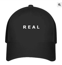 NF Real Therapy Session 75 Hat Flexfit Black Baseball Cap Printed Logo S/M