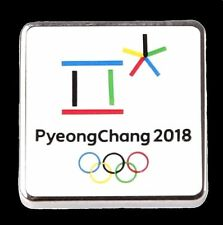 OFFICIAL LOGO 2018 PYEONGCHANG KOREA OLYMPIC GAMES PIN FOR MEDIA MINT CONDITION