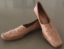 """Unique Style Tan Leather HUSH PUPPIES """"Rattle"""" Loafer Shoes Size 9.5"""
