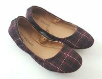 Lucky Brand Flats Womens Plaid Erin Flat Ballet Shoes Size 6M