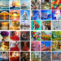 DIY Paint By Numbers Kit Digital Oil Painting Art Wall Home Decor Scenery Animal