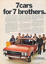 1972 Audi 100LS 7-brothers Original Advertisement Car Print Ad J515