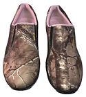 Game Winner Women's Mossy Oak Pink Camo Slip-on Sneakers Size 9.5