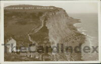 HASTINGS Cliffs Postcard SUSSEX Willmet, W.J.