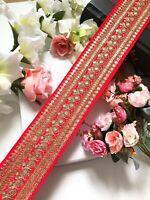 1 Yards Latest Indian Zari   Sequin work Dupatta Sari Border lace Trim Indian