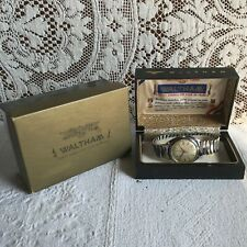 Vintage Waltham 17 Jewel Centennial Wrist Watch with Case & Box Runs