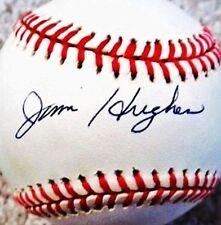 JIM HUGHES (D.2001) (DODGERS - CUBS - WHITE SOX) SIGNED ONL BASEBALL PSA/DNA