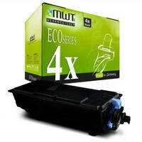 4x MWT Eco Cartridge for Kyocera Ecosys P-3050-dn P-3045-dn P-3055-dn P-3060-dn