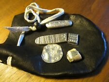 Viking Hack Silver in leather pouch Anglo Saxon Medieval style 925 sterling