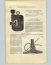 1905 PAPER AD Railroad Street Rail Structural Iron Punch Hydraulic Jacks
