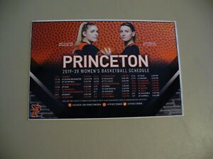 Princeton University 2019-20 Women's Basketball Magnetic Schedule - NEW