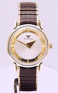 Rare 1960's Wittnauer Swiss 17 Jewels Men's Wrist Watch, Restored. Extra Fine!