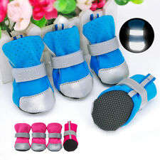 Reflective Pet Dog Shoes Anti-Slip Fleece Puppy Boots Rain Snow Booties Footwear