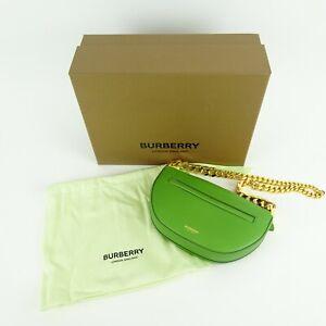 Burberry London Green Mini Leather Zip Olympia Bag Limited Ed #194/300 NEW NIB