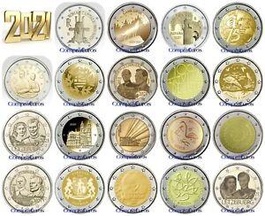 2 Euros Conmemorativos 2021 SIN CIRCULAR *Todos los Países* Envío Inmediato