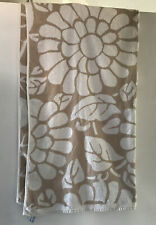 Matalan Light Brown & White Floral Patterned Bath Sheet Towel