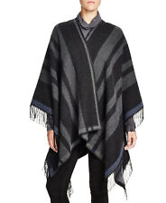 FRENCH CONNECTION Blanket Wrap In Dark  Grey /Multi Poncho