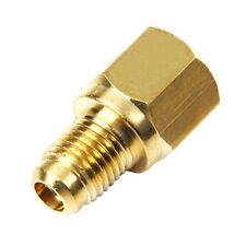 "R134a to R12 Fitting Adapter,1/2"" Female Acme x 1/4"" Male Flare MA"
