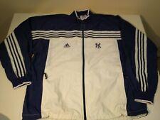 Vintage NY Yankees Adidas 3 stripes Windbreaker Zip Up Jacket Baseball Men's XXL