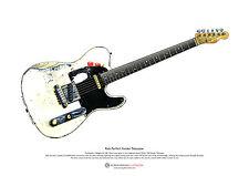 Rick Parfitt's Fender Telecaster ART POSTER A3 size