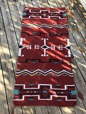 Large El Paso Saddle Blanket Company Woven Aztec Earthy Kilim Rug Southwest