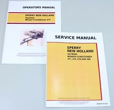 SET NEW HOLLAND 477 HAYBINE MOWER-CONDITIONER SERVICE OPERATORS OWNERS MANUAL