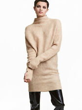 H&M PREMIUM OVERSIZE PULLOVER XS S M 34 36 38 40 CAMEL TURTLENECK MOHAIR WOLLE