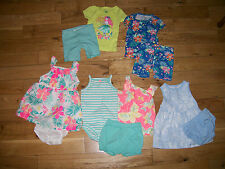 Lot of Clothing Outfits Girls Baby Infant Spring Summer Pj's Carters 6M 6 Months