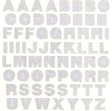 "6"" x 6"" ~ SILVER Alphabet Uppercase abc Metal Grossman Stickers SALE ~"