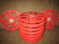 100- 400ft 16mm Plastic Red Goldberg film Reels New!