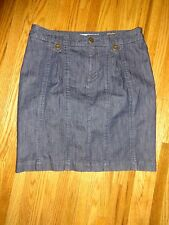 PILCRO AND THE LETTERPRESS Jean Denim Pleated Button Skirt ANTHROPOLOGIE size 29