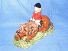 John Beswick Thelwell Pony Dont Tire Your Pony Brown JBT6BR Pony Club Present