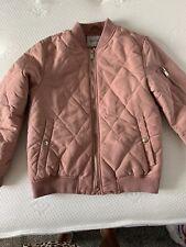 Zara Girls Pink Bomber Jacket Age 11-12